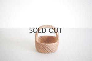 画像1: 木の持ち手つきカップ