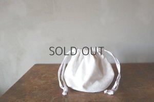 画像1: conocone/アンティークリネン巾着袋